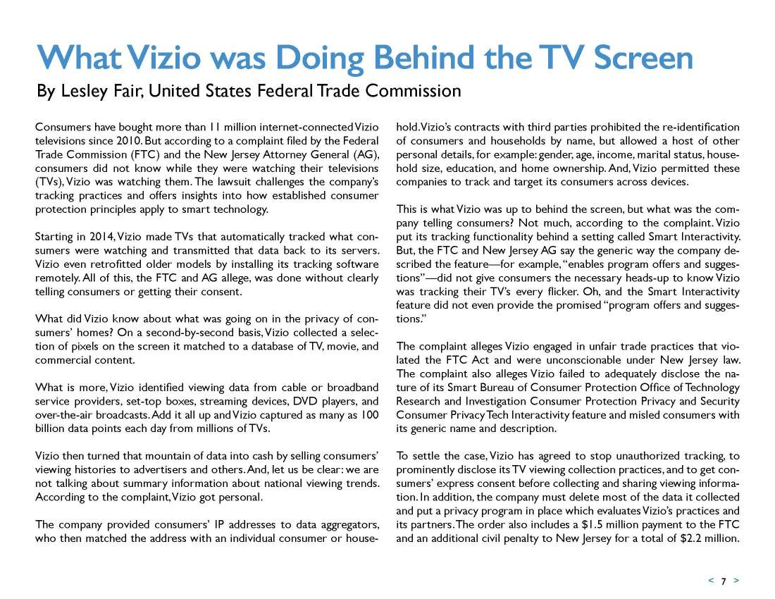 What Vizio was Doing Behind the TV Screen (Hint: It is